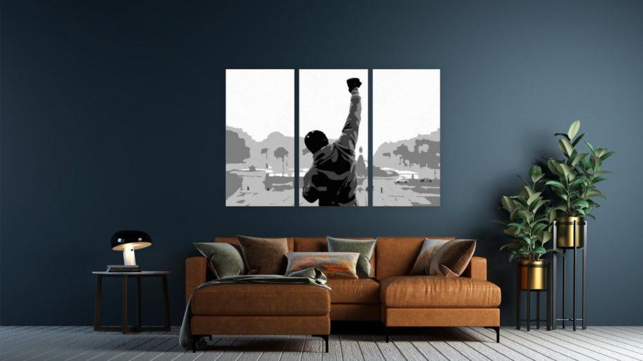 Rocky schilderij 3 luik schilderij