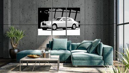 Rolls Royce Phantom VII 3 luik schilderij