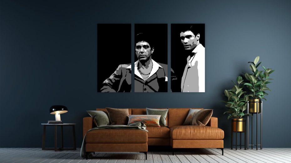 """Al Pacino """"Scarface"""" 3 luik schilderij"""