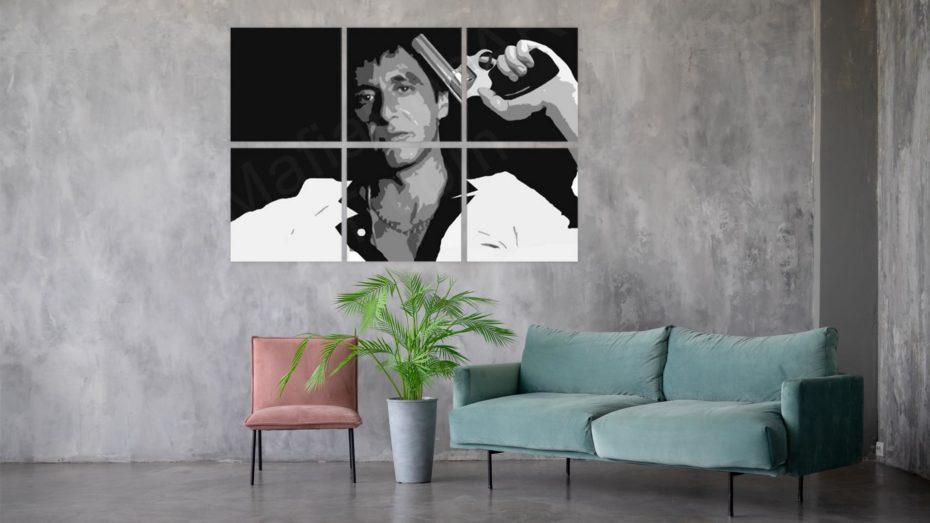 Scarface handgeschilderd schilderij ( Al Pacino ) schilderij