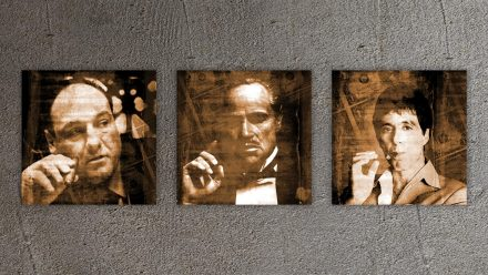 Scarface, Godfather, Soprano 3 luik schilderij