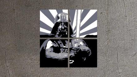 Star Wars 4 luik versie 2 schilderij