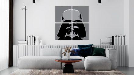 Star Wars schilderij in vierluik van Darth Vader