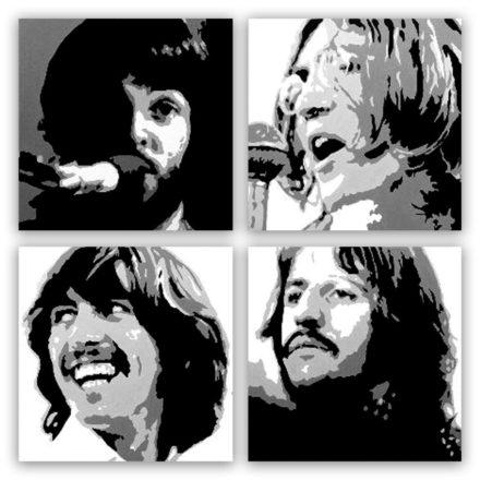 Beatles 4 luik schilderij