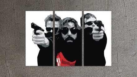 The Boondock Saints 3 luik schilderij