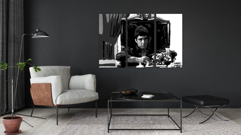 Tony Montana 3 luik schilderij