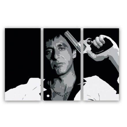 Tony Montana schilderij ( Scarface) in drieluik
