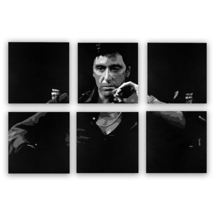 "Tony Montana ""Scarface"" 6 luik schilderij"