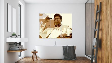 "Tony montana ""Scarface"" 3 luik versie 3 schilderij"