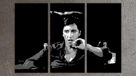 "Tony Montana ""Scarface"" 3 luik versie 2 schilderij"