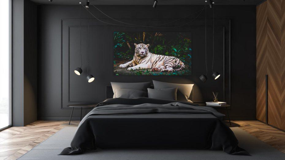White Tiger 1 schilderij