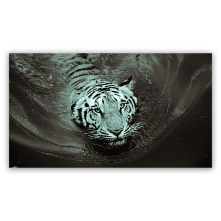 White Tiger 4 schilderij