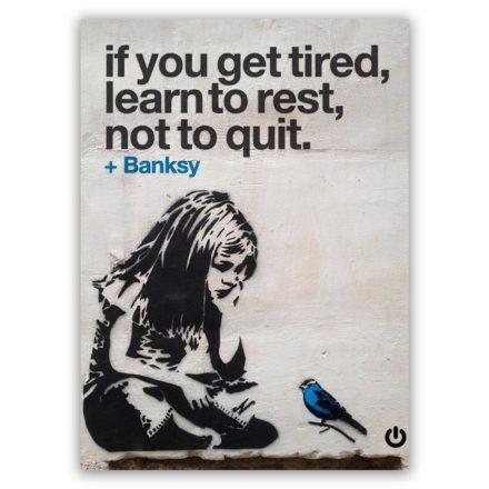 Banksy kid schilderij