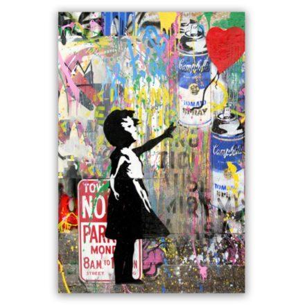 Banksy Balloon Art schilderij