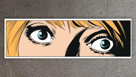 Popart schilderij blue eyes