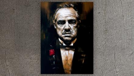 Godfather paint schilderij