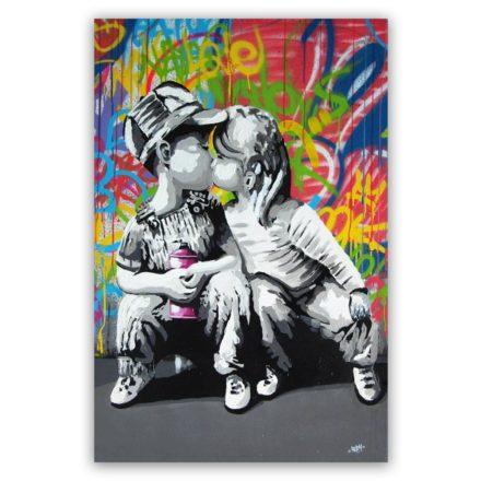 kids-kissing-schilderij