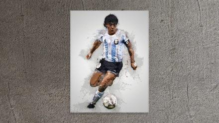 Diego Maradona Art schilderij