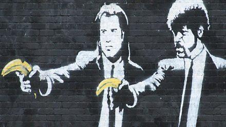 Banksy pulp fiction schilderijij