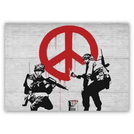 Banksy soldier peace schilderij