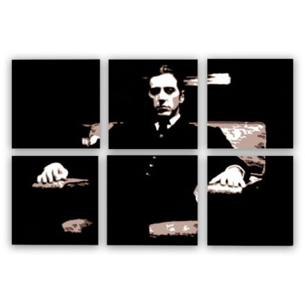 al pacino godfather 6 luik schilderij
