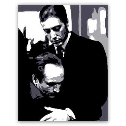 al pacino godfather schilderij