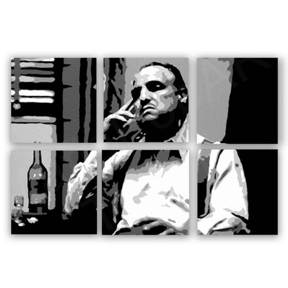 Marlon Brando Godfather 6 luik schilderij