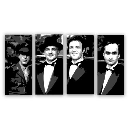 godfather corleone 3 luik schilderij