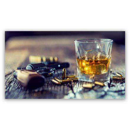 gun and whiskey 1 schilderij popartschilderijen