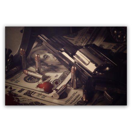 gun dollar buller schilderij