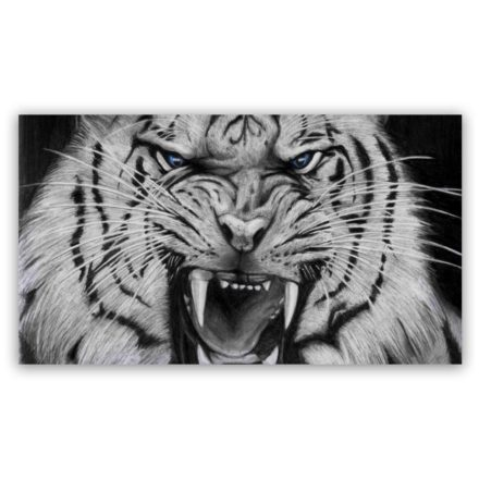 white tiger 3 schilderij