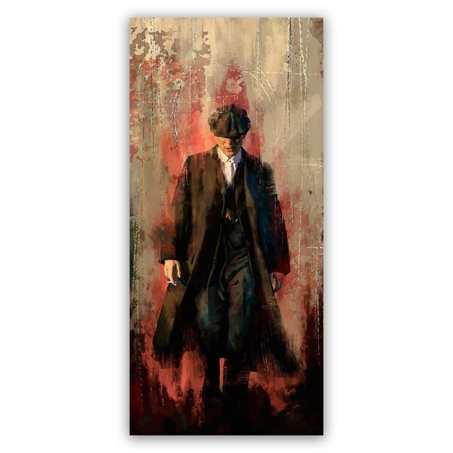 Peaky Blinders Tom walking schilderij