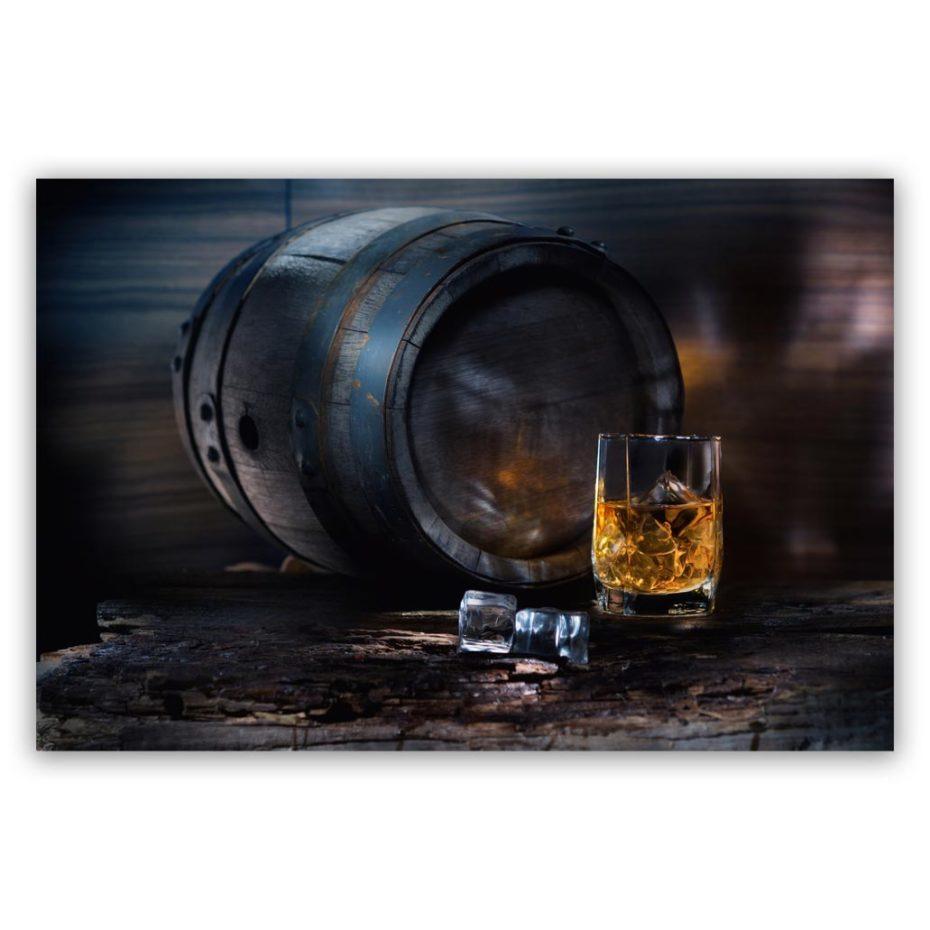 Whiskey Barrel and Ice schilderij
