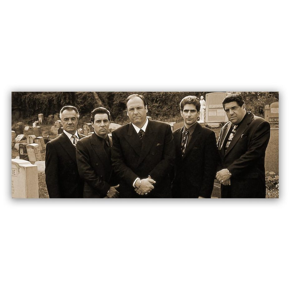 Sopranos-Gang-150x60-sepia-groot