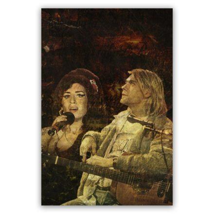 Amy Winehouse en Kurt Cobain schilderij